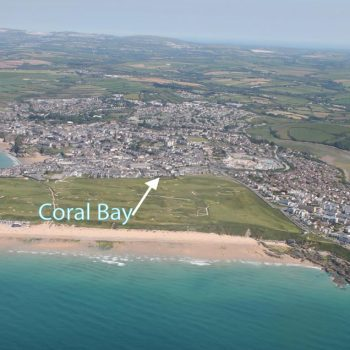 Arial view of Coral Bay