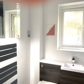 Newquay Bathroom with large overhead shower