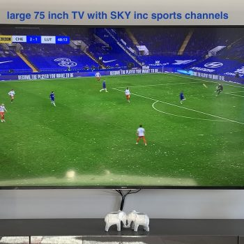 75 inch TV with sky and sports