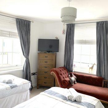 Bedroom 3 twin room with TV