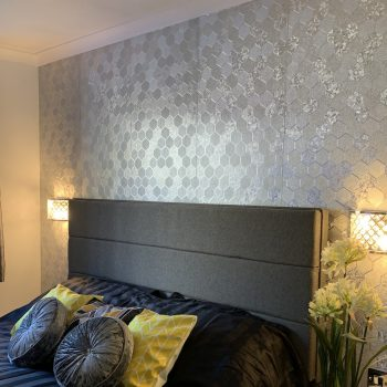 49 main bedroom 1 supering size bed and wall mounted 50 inch TV with sports