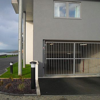 Ocean gate entrance to basement operated by key fob