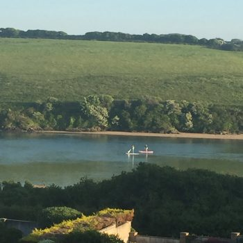 The River Gannel 5 minutes with the tide in, leads to Crantock