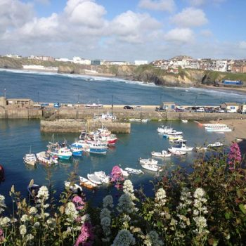 Newquay Harbour yards away