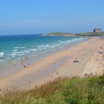 Fistral Beach just up the road