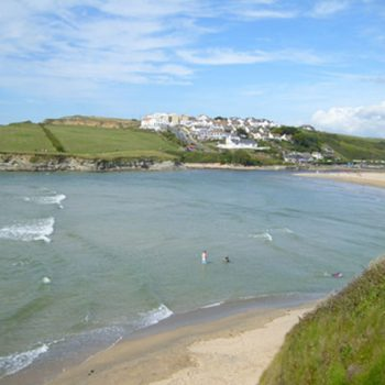 One of Newquays beaches at Porth