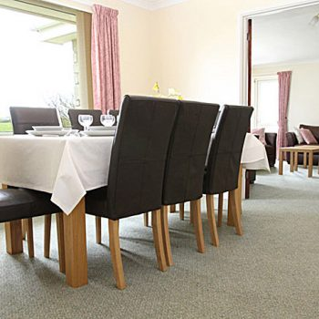 Large dining room with seating for 8/9
