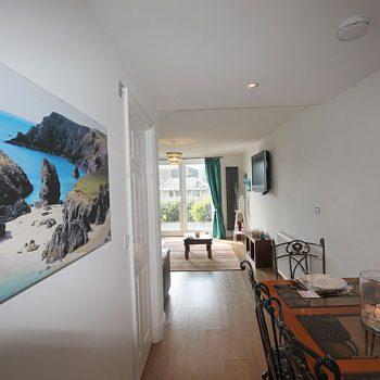 Open plan lounge kitchen diner
