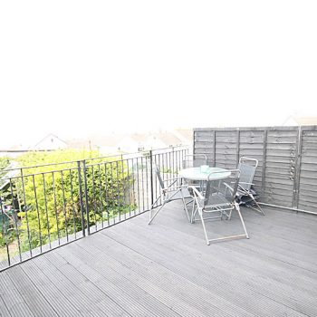 Decked area from lounge patio doors