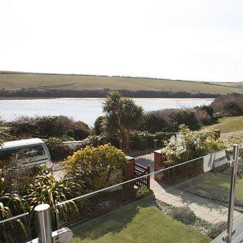 Views of the gannel from the gardens when the tide is in